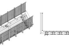 Konstruktionszeichnung Fuß- und Radwegbrücke: Länge 6,7 m, Breite 2,5 m