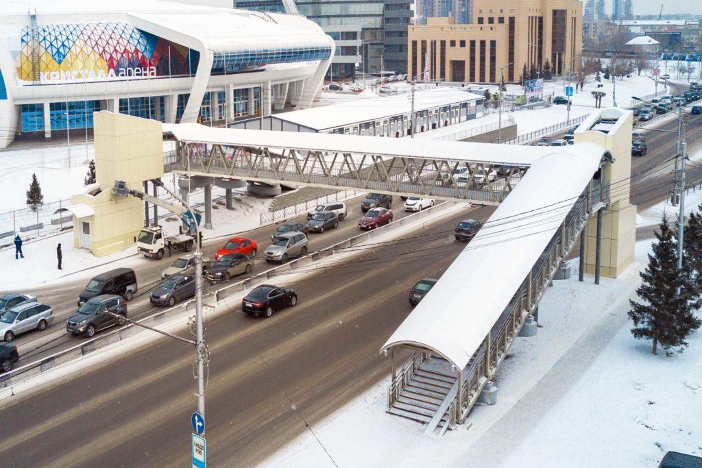 Aluminiumbrücken in Krasnoyarsk