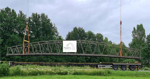 Geh- und Radbogenbrücke über die Staatsstraße St 2139 in Bärndorf